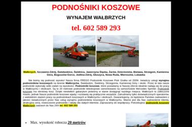PREGO Podnośniki Koszowe Piotr Gralka - Maszyny budowlane Wałbrzych