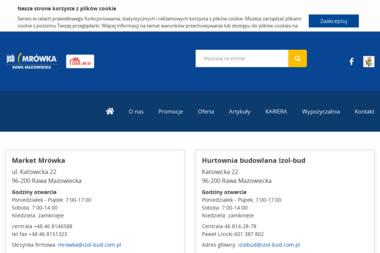 """Zakład Budownictwa Ogólnego """"Izol-bud"""" s.c. Zbigniew Badowski, Mieczysława Badowska - Tarcica budowlana Rawa Mazowiecka"""