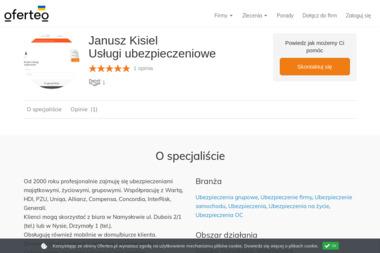 Janusz Kisiel Usługi ubezpieczeniowe - Ubezpieczenia grupowe Namysłów