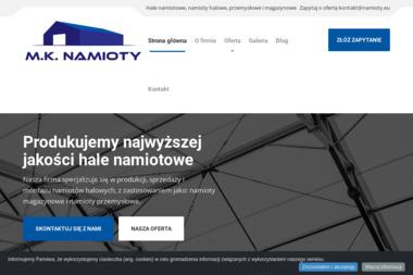M.K. NAMIOTY Marcin Kuchta - Zaplecze budowlane Jabłoń
