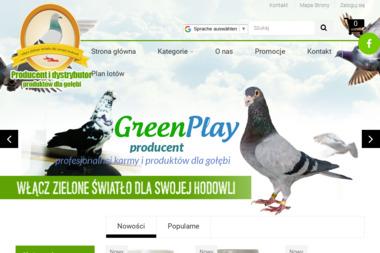 GREEN PLAY Sp.z.o.o. Producent produktów dla gołębi - Drób Toruń