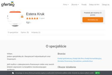 Estera Kruk - Kredyt hipoteczny Poznań