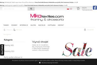 Sklep z tkaninami i dzianinami - mikatextiles.com - Sprzedaż Tkanin Wołomin