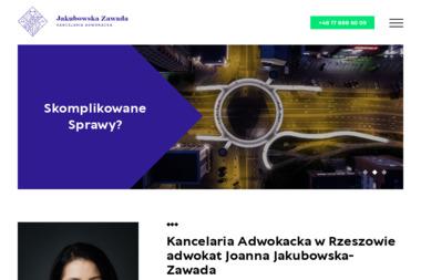Kancelaria Adwokacka Joanna Jakubowska-Zawada - Obsługa prawna firm Rzeszów