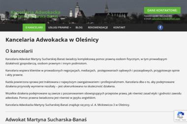 Adw. Martyna Sucharska-Banaś - Kancelaria prawna Oleśnica