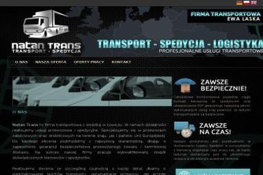Natan Trans Ewa Laska - Transport busem 艁owicz