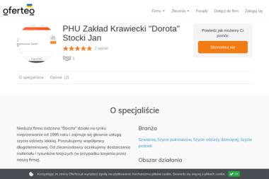 """PHU Zakład Krawiecki """"Dorota"""" Stocki Jan - Krawiec Białystok"""