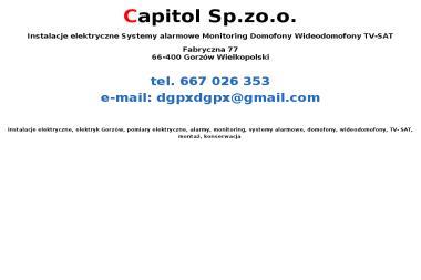 Capitol Sp. z o.o. - Instalacje Alarmowe Gorzów Wielkopolski