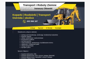 Transport i Roboty Ziemne Ireneusz Ołowski - Studnie Wiercone Ostróda