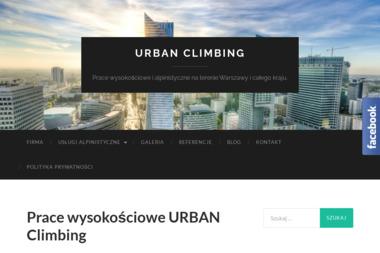Urban Climbing Marcin Teodorczyk - Alpinizm Przemys艂owy Warszawa