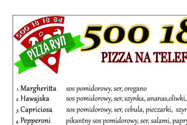 """Usługi Gastronomiczne Paweł Lenczewski """"Pizza Ryn"""" - Gastronomia Ryn"""