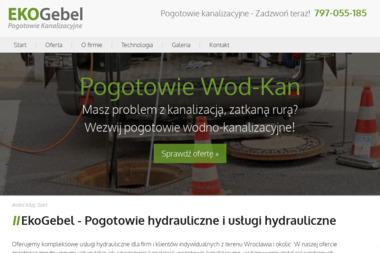 """Gebel Leszk Usługi Kanalizacyjne,Hydrauliczne,Sanitarne """"Ekogebel"""" - Ochrona środowiska Wrocław"""