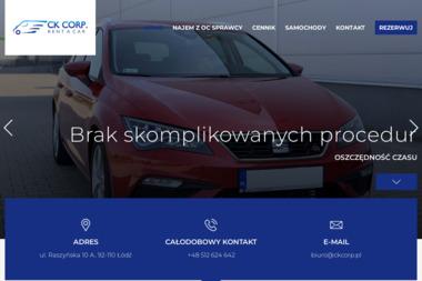 CK CORP. Krzysztof Chojnacki - Wypożyczalnia Aut Łódź