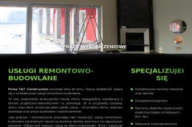 T&T Construction Sp z o.o. - Tynki Maszynowe Brzeg