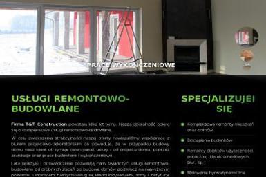 T&T Construction Sp z o.o. - Tynk Natryskowy Brzeg