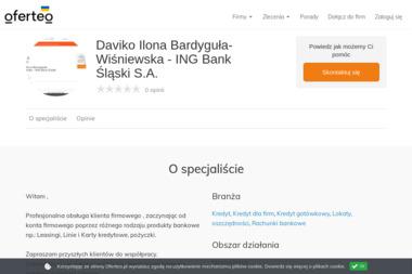 Daviko Ilona Bardyguła-Wiśniewska - ING Bank Śląski S.A. - Leasing Operacyjny Ożarów Mazowiecki