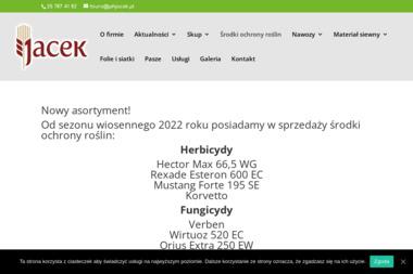"""Przedsiębiorstwo Handlowe """"Jacek"""" Jacek Kobyliński - Pasza Sabnie"""