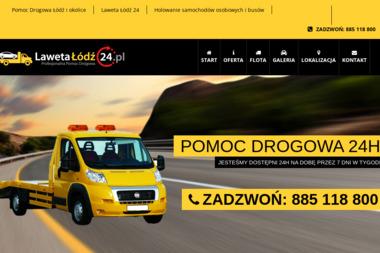 Laweta Łódź 24h - Pomoc drogowa Łódź