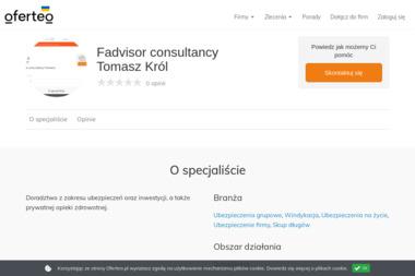 Fadvisor consultancy Tomasz Król - Ubezpieczenia grupowe Wrocław