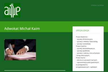 Adwokat Michał Kaim - Porady Prawne Myszków