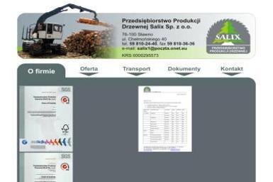 """Przedsiębiorstwo Produkcji Drzewnej """" SALIX """" Sp.z.o.o - Opakowania Termiczne Sławno"""