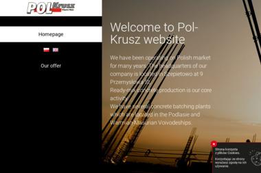 """F.H.U. """"Pol-Krusz"""" Zbigniew Wojno - Fundamenty Szepietowo"""