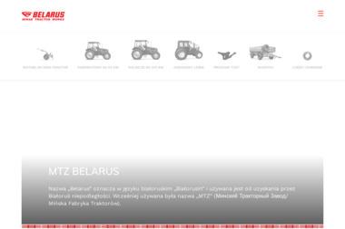 MTZ BELARUS TRAKTOR - Części do maszyn rolniczych Bogusze