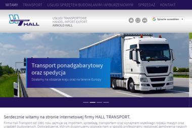 Uslugi Transportowe Handel Import-Export Arnold Hall - Transport międzynarodowy Cisek