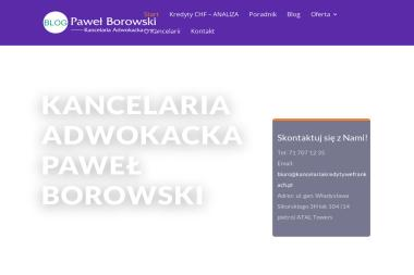 Kancelaria adwokacka Adwokat Paweł Borowski - Adwokat Wrocław