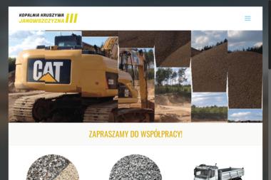 Kopalnia Kruszywa Janowszczyzna III Krzysztof Czesław Zdanowicz - Dla górnictwa i kopalnictwa Białystok