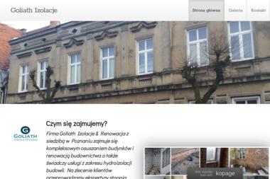 Goliath Izolacje&Renowacja - Osuszanie Poznań
