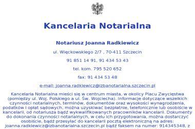 KANCELARIA Notarialna JOANNA RADKIEWICZ - Kancelaria prawna Szczecin