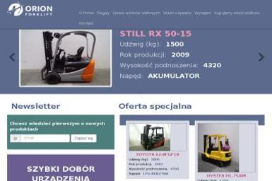 Orion forklift Sp. z o. o. - Dostawcy maszyn i urządzeń Wrocław