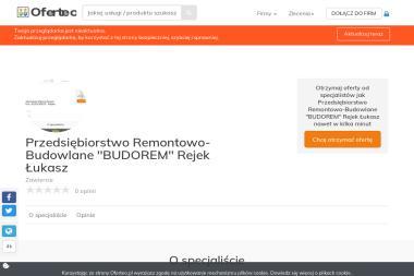 """Przedsiębiorstwo Remontowo-Budowlane """"BUDOREM"""" Rejek Łukasz - Rzeczoznawca budowlany Zawiercie"""