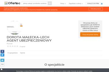DOROTA MAŁECKA-LECH AGENT UBEZPIECZENIOWY - Ubezpieczenia Grupowe Poznań