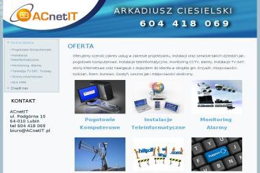 ACnetIT Arkadiusz Ciesielski - Instalacje Lubiń