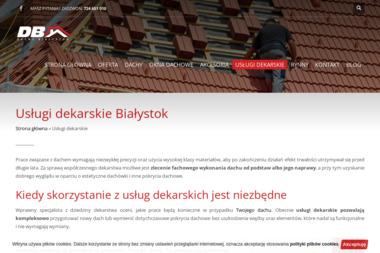 Usługi dekarskie - DB Dachy Białystok - Krycie dachów Księżyno