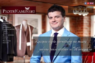 Szycie garniturów na miarę Piotr Kamiński - Wykroje Warszawa