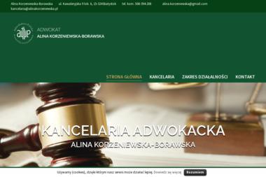 KANCELARIA ADWOKACKA ALINA KORZENIEWSKA ADWOKAT - Porady Prawne Białystok