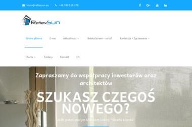 ReflexSun - Producent Rolet Screen ZIP i Refleksoli - Rolety zewn臋trzne St臋szew