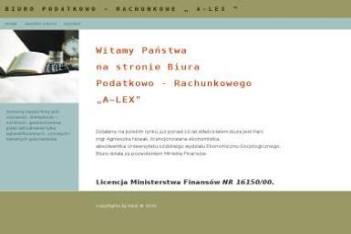 Biuro Podatkowo - Rachunkowe A~Lex - Księgowanie Przychodów i Rozchodów Kalisz