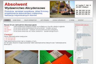 Absolwent Wydawnictwo Akcydensowe Edward Ścibior - Druk katalogów i folderów Olsztyn