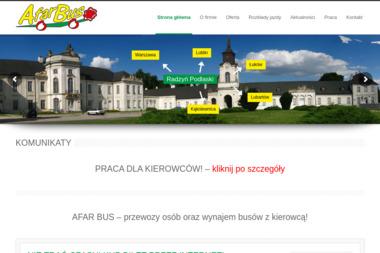 Przedsiębiorstwo Przewozowo Handlowo Usługowe Afar Bus Zbigniew Przybysz - Firma transportowa Lubycza Królewska