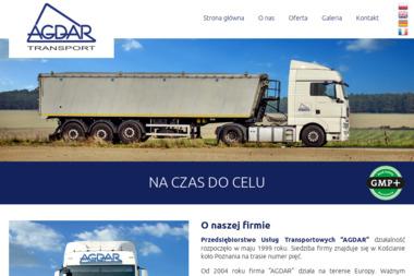 Agdar, Przedsiębiorstwo Usług Transportowych - Firma transportowa Kościan