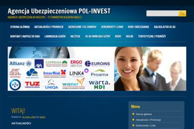 Agencja Ubezpieczeniowa Pol-Invest. Agencje ubezpieczeniowe, ubezpieczenia - AC Baniocha