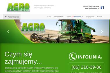 Agrofinanse - Leasing Dla Nowych Firm Łomża