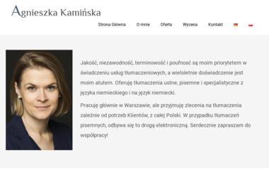 Agnieszka Kamińska - Tłumacze Białystok