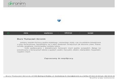 Biuro Tłumaczeń Akronim - Tłumacze Bystrzyca Kłodzka