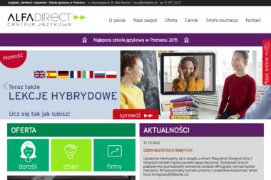 Alfa Direct Centrum Językowe. Szkoła językowa, angielski i niemiecki - Nauka Niemieckiego Poznań