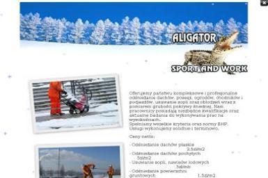 Aligator Sport And Work. Odśnieżanie, odśnieżanie dachów - Odśnieżanie Dachów Piła